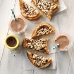 Peanut Butter, Krispies and Chocolate Sandwich