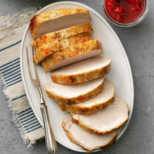 Pork Loin With Strawberry Rhubarb Chutney Exps Thca19 68744 E02 26 4b 5