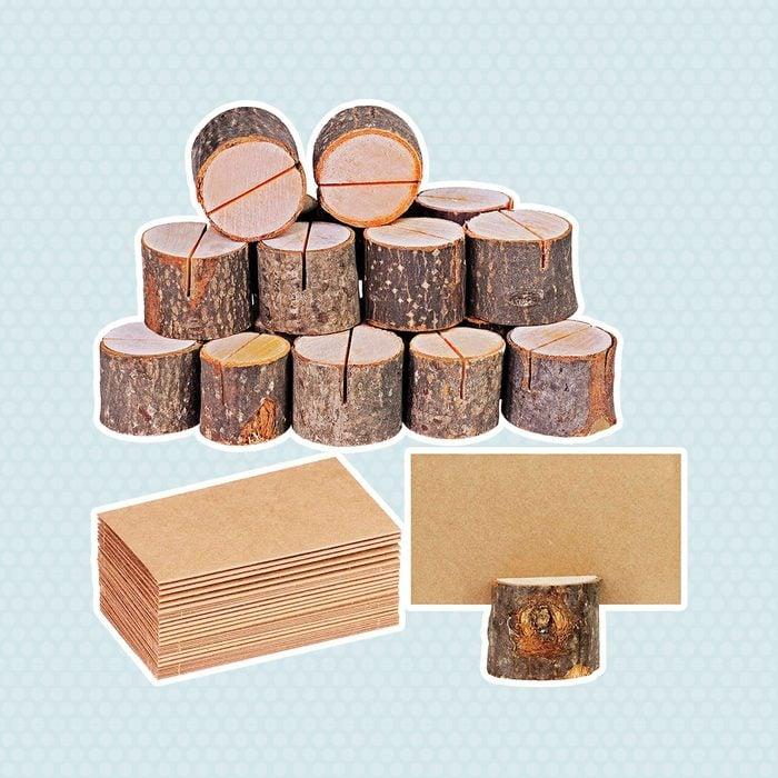Rustic Wood Card Holders