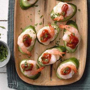 Shrimp and Cucumber Canapes
