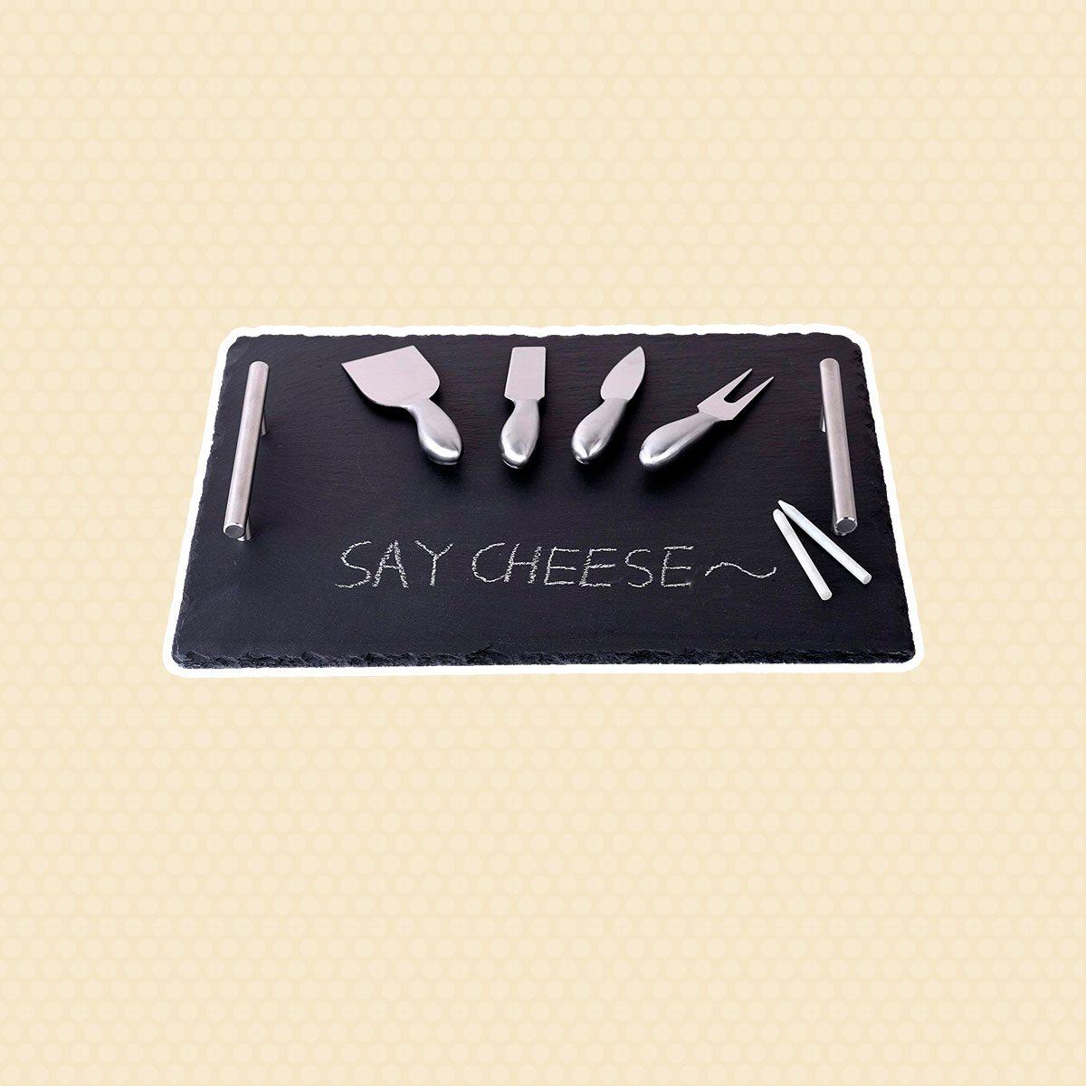 Slate Cheeseboard with Soap Stone Chalk