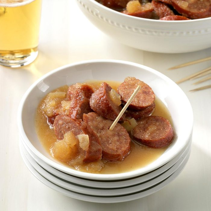 Slow-Cooker Sausage and Apples