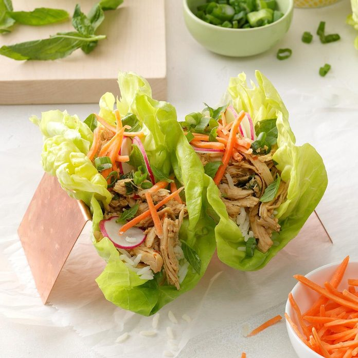 January 1: Thai Chicken Lettuce Cups