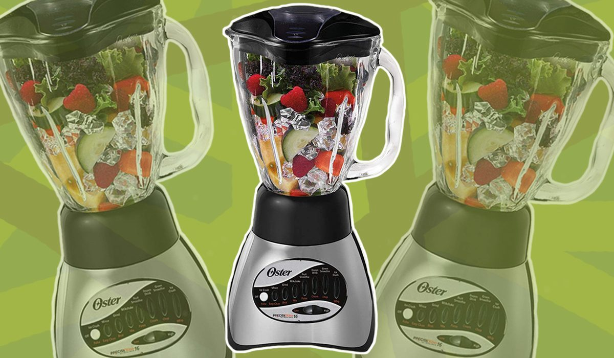 Oster Blender on Green Background