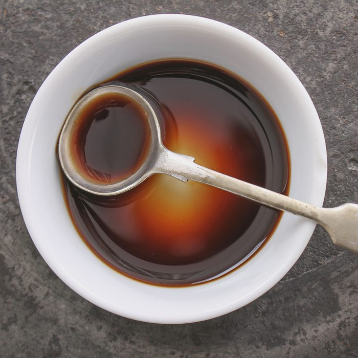 Worcestershire sauce in dish