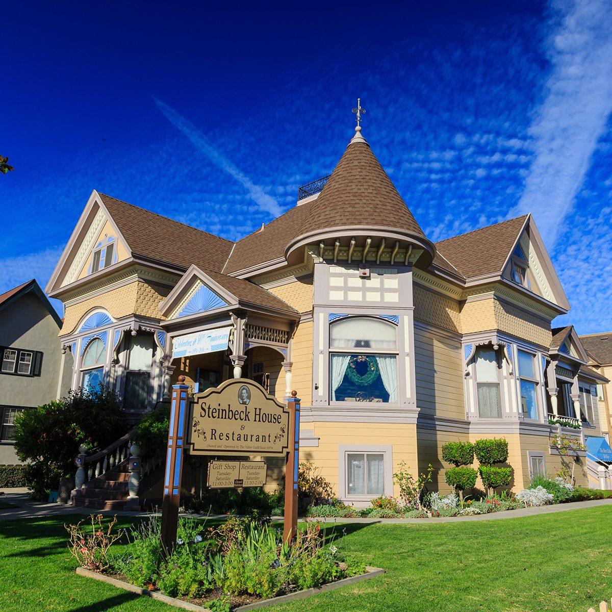 Salinas, NOV 28: The beautiful Steinbeck House on NOV 28, 2014 at Salinas, California