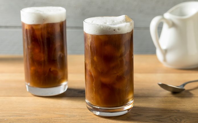 Homemade Cold Brew Coffee with Cold Foam