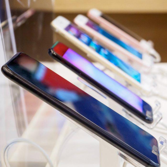 Phones on display