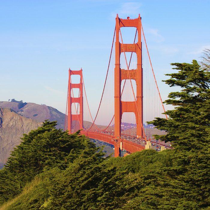 Golden Gate from the presidio in San Francisco