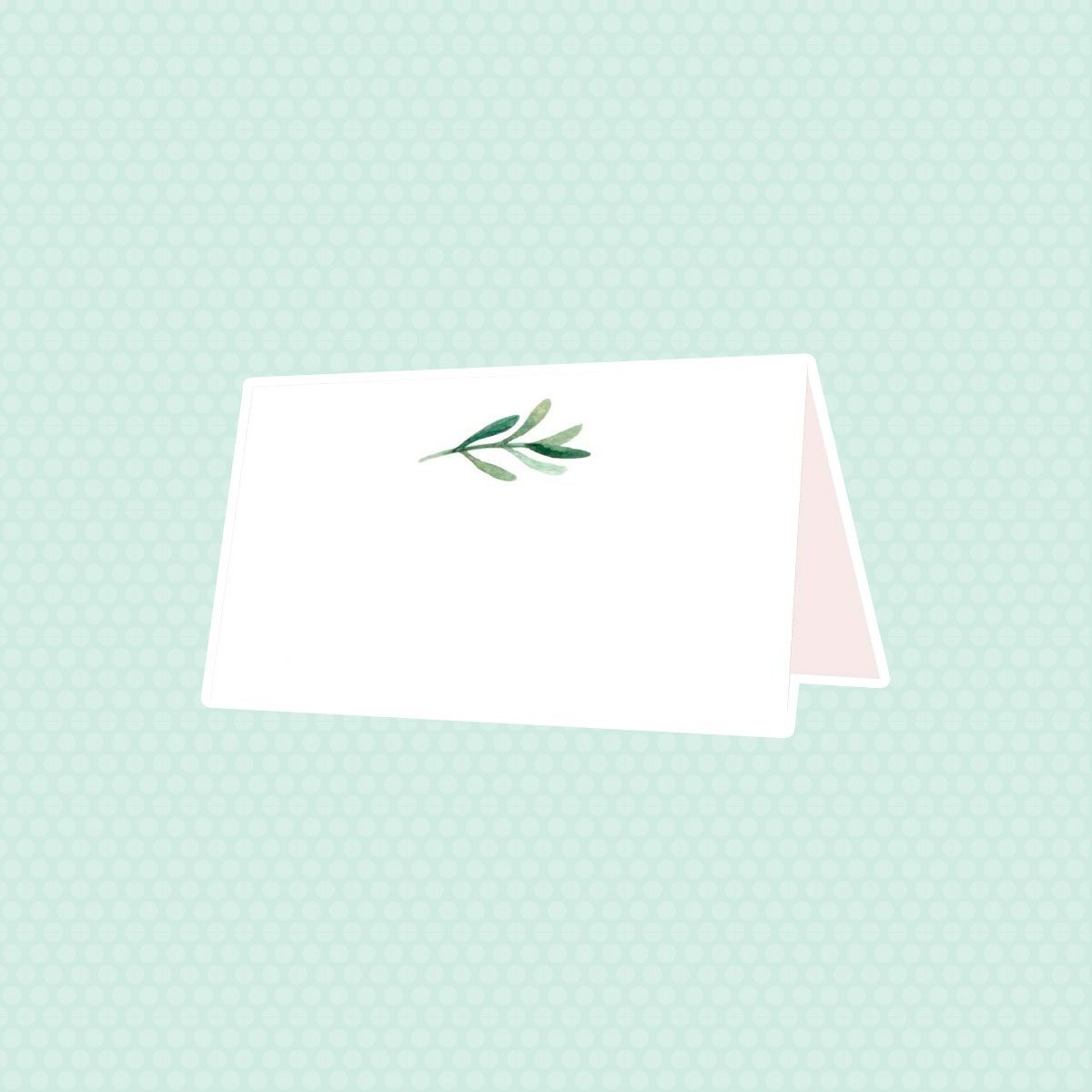 Elegant Greenery Tent Table Cards