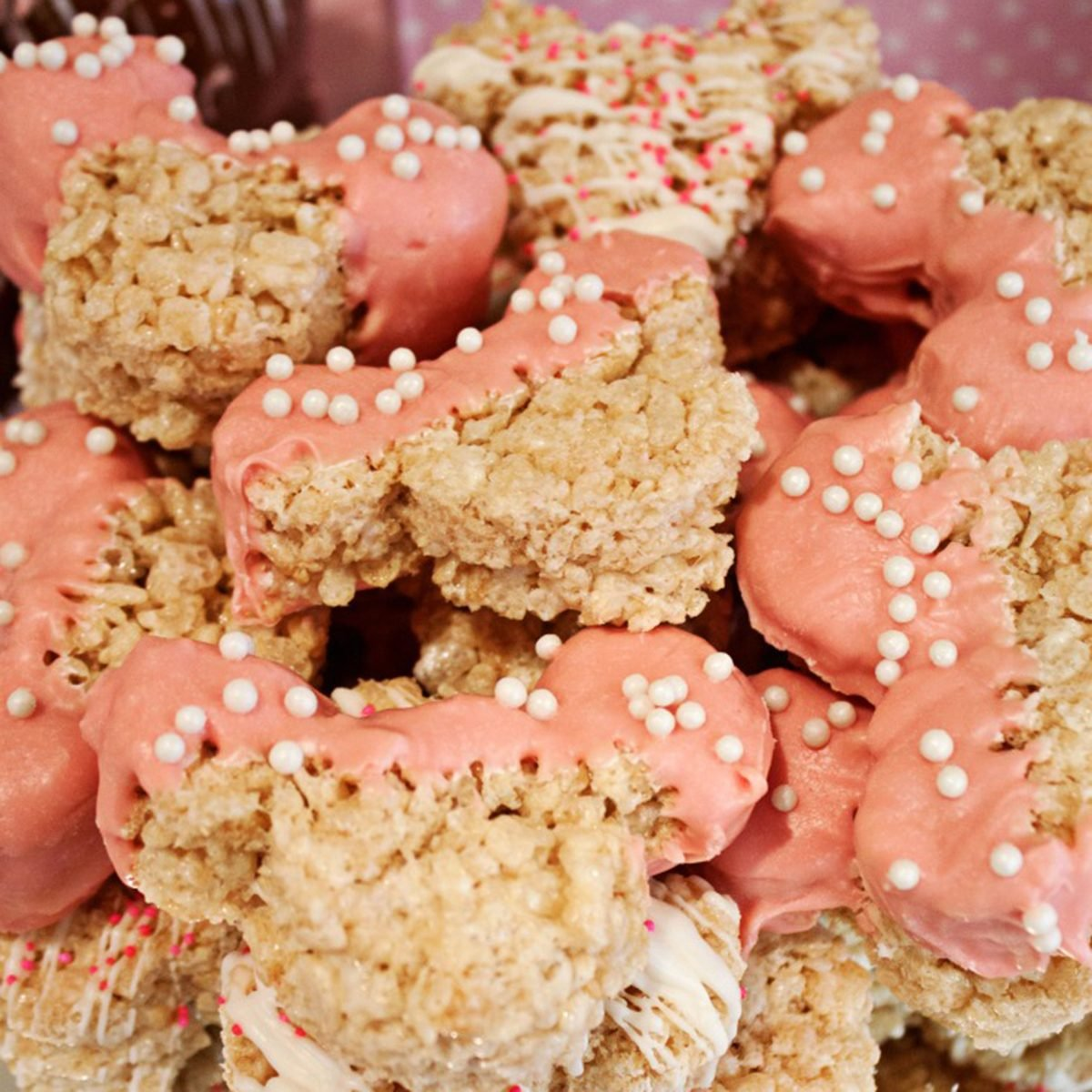 Chocolate Covered Minnie Mouse Rice Krispie Treats