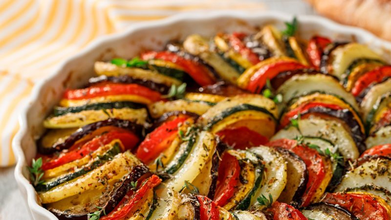 Vegetable tian, Provencal vegetable casserole, delicious and nutritious vegetarian mea