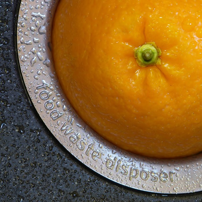 orange in the hole ot hte food waste disposer; Shutterstock ID 24172744; Job (TFH, TOH, RD, BNB, CWM, CM): TOH
