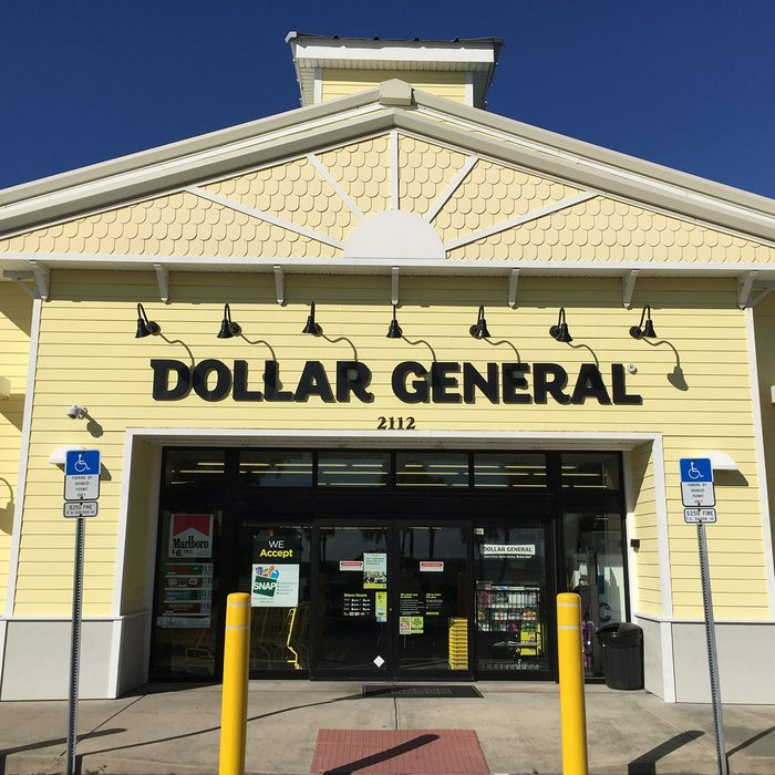 DAYTONA BEACH, FL-MARCH 19, 2016: New Dollar General store in this Florida beach town. Dollar General is a small box retailer with thousands of stores throughout the United States.; Shutterstock ID 394598608