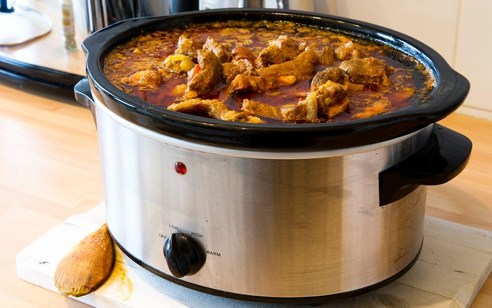 Lamb Curry cooking in slow Cooker