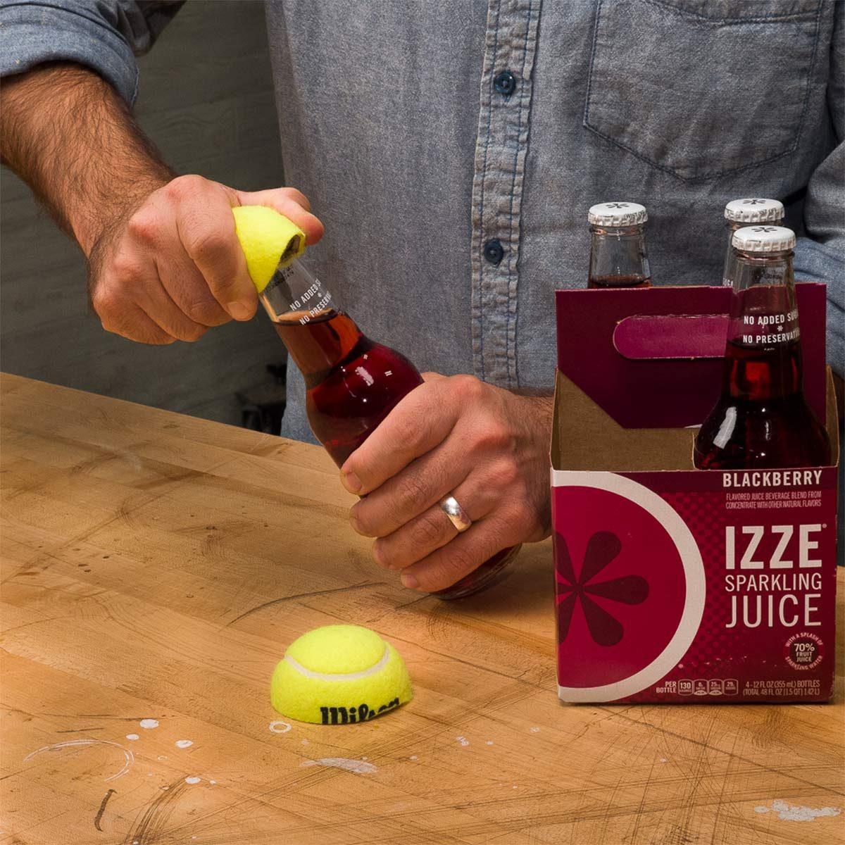 tennis ball bottle opener