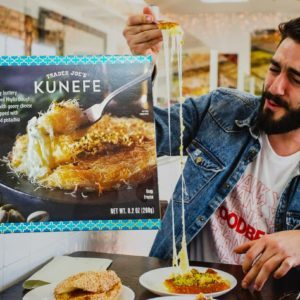 Trader Joe's Now Sells Kunefe, A Middle Eastern Dessert With An Insane Cheese Pull