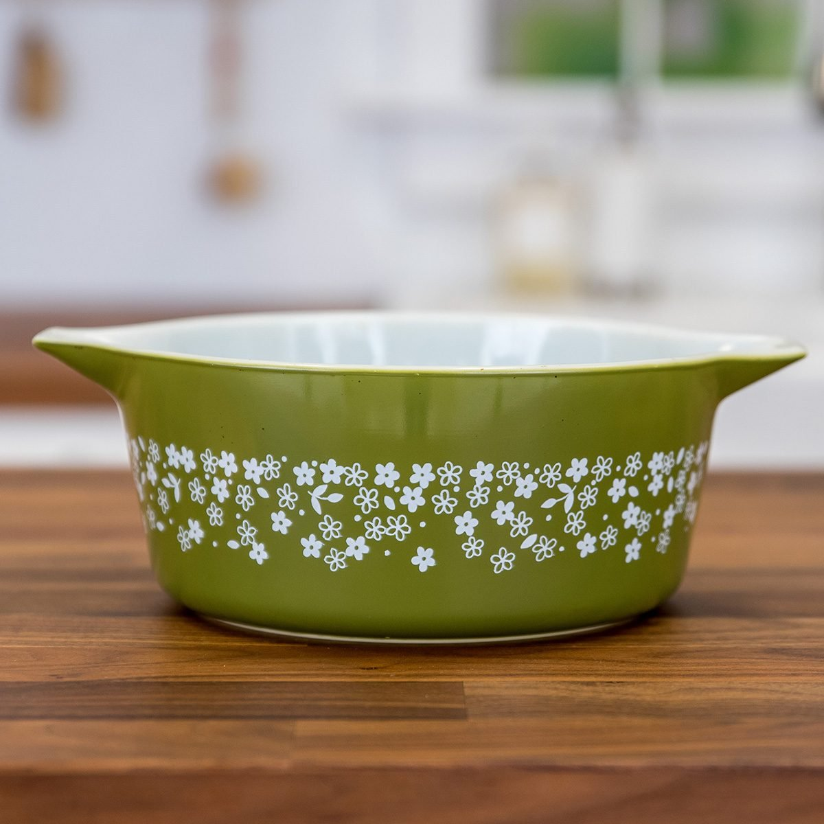 Vintage Pyrex dish in Spring Blossom