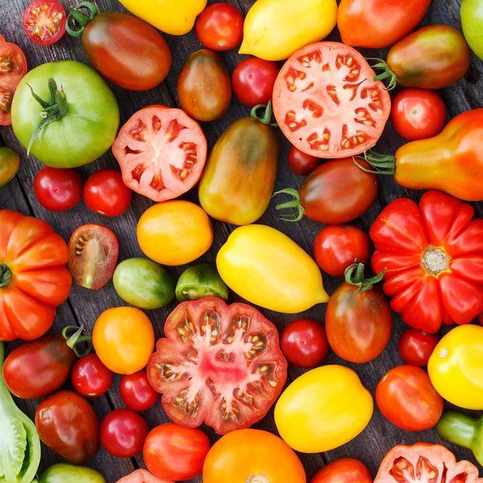colorful tomatoes; Shutterstock ID 256205770; Job (TFH, TOH, RD, BNB, CWM, CM): Taste of Home