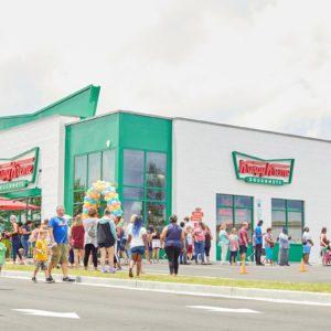This New Krispy Kreme Store Serves Doughnut-Inspired Milkshakes and Ice Cream Sandwiches