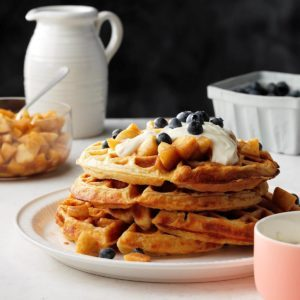 Apple Pie Ricotta Waffles