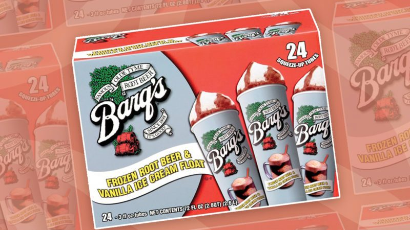 Barq's root beer float squeeze up tubes