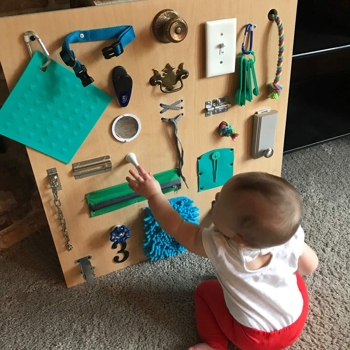 Build a Toddler Busy Board with Items You Already Have ...