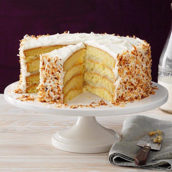3rd Place: Coastal Coconut Cream Cake