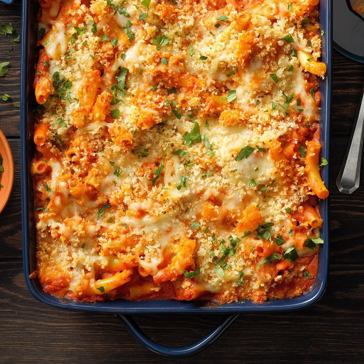 Five Cheese Ziti Al Forno Recipe Taste Of Home