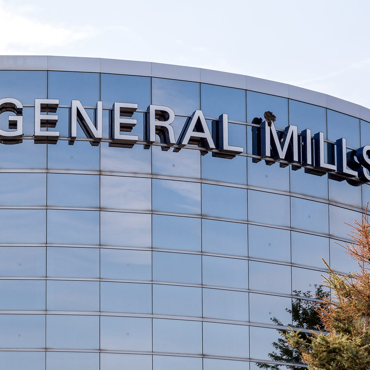 Sign of General Mills on the building of General Mills Canada in Mississauga