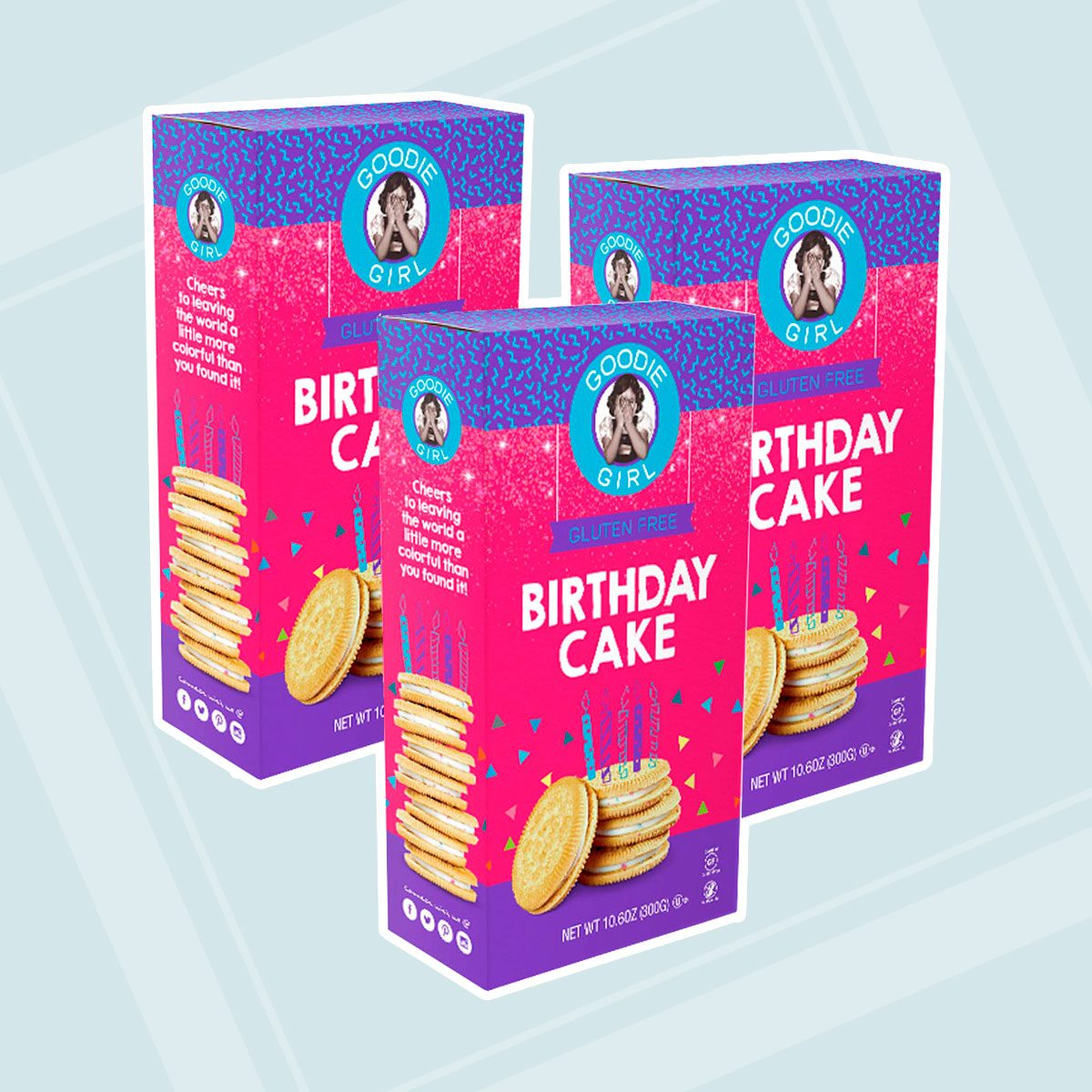 Goodie Girl Birthday Cake Sandwich Cookies