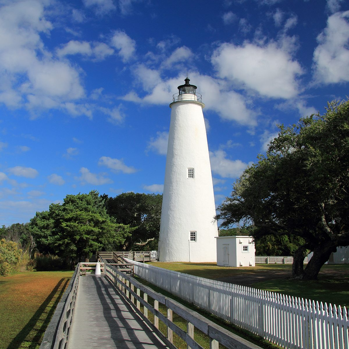 Historic Ocracoke Light on Ocracoke Island