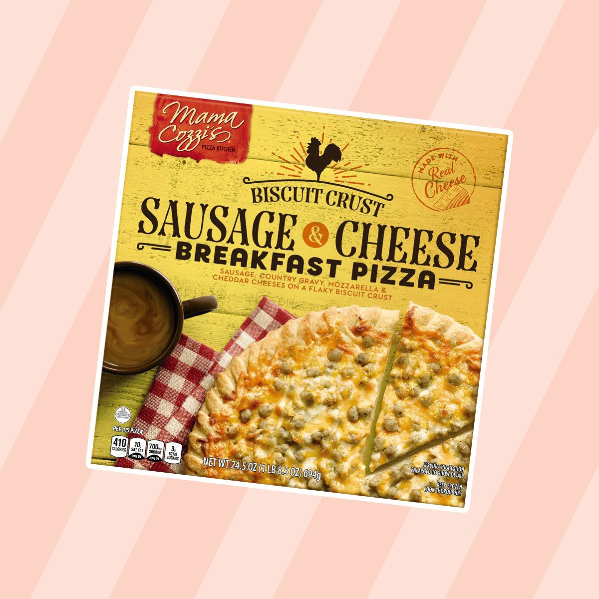 Sausage and Cheese Breakfast Pizza