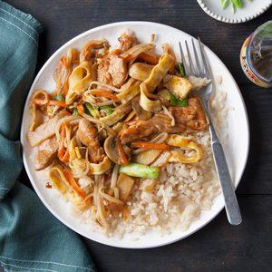 Moo Shu Pork Stir-Fry