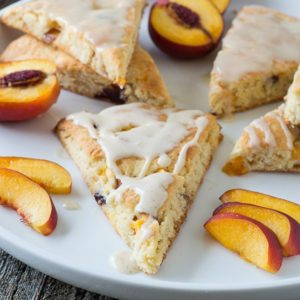Nectarine Vanilla Bean Scones