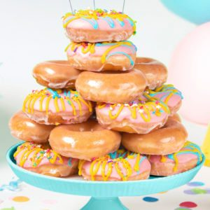 Birthday Krispy Kreme donuts