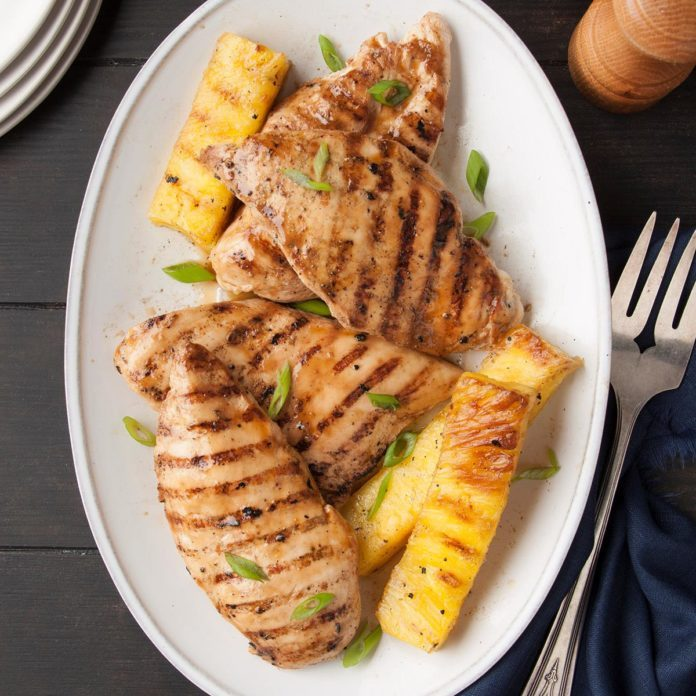 Day 12: Grilled Pineapple Chicken