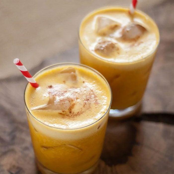 Pumpkin pineapple cocktails