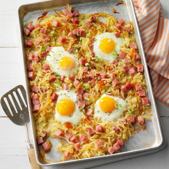 Southern Hash Browns and Ham Sheet-Pan Bake