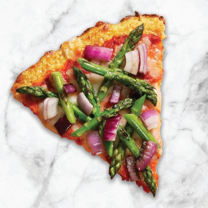 asparagus and onion pizza