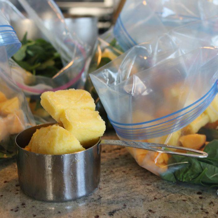 Organic vegan make ahead smoothie bag ingredients