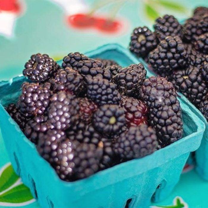 Blackberries in cartons