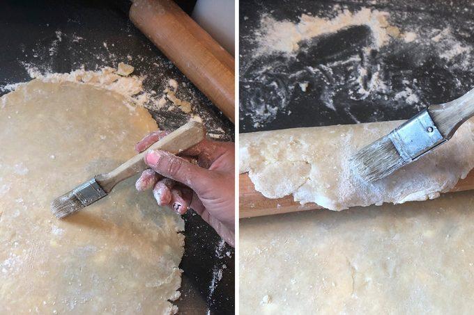 brush off dough, flour