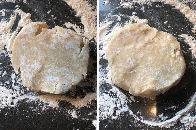 dough cracks