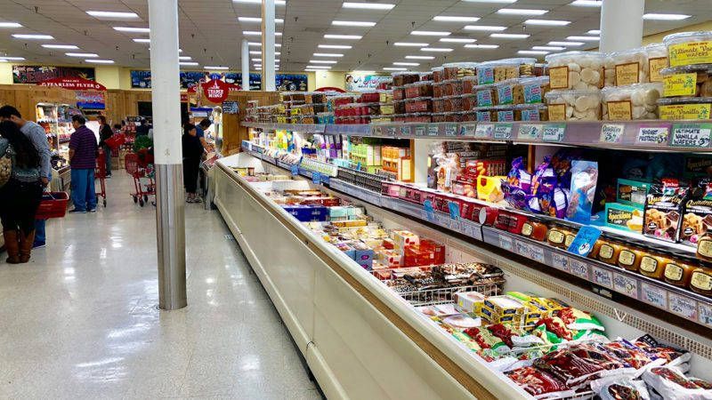 Trader Joe's Grocery Store aisle of frozen food.