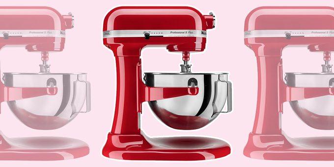 kitchenaid standmixer in red