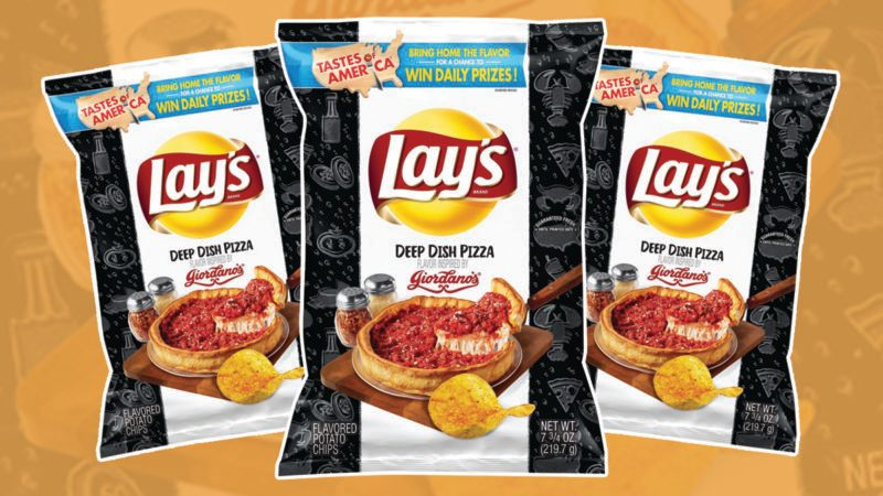lays chips deep dish pizza