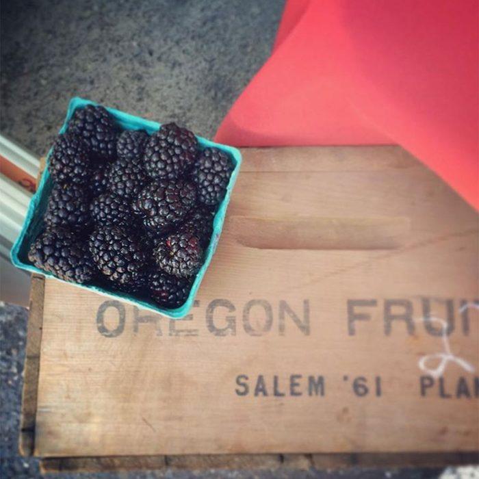 Package of blackberries