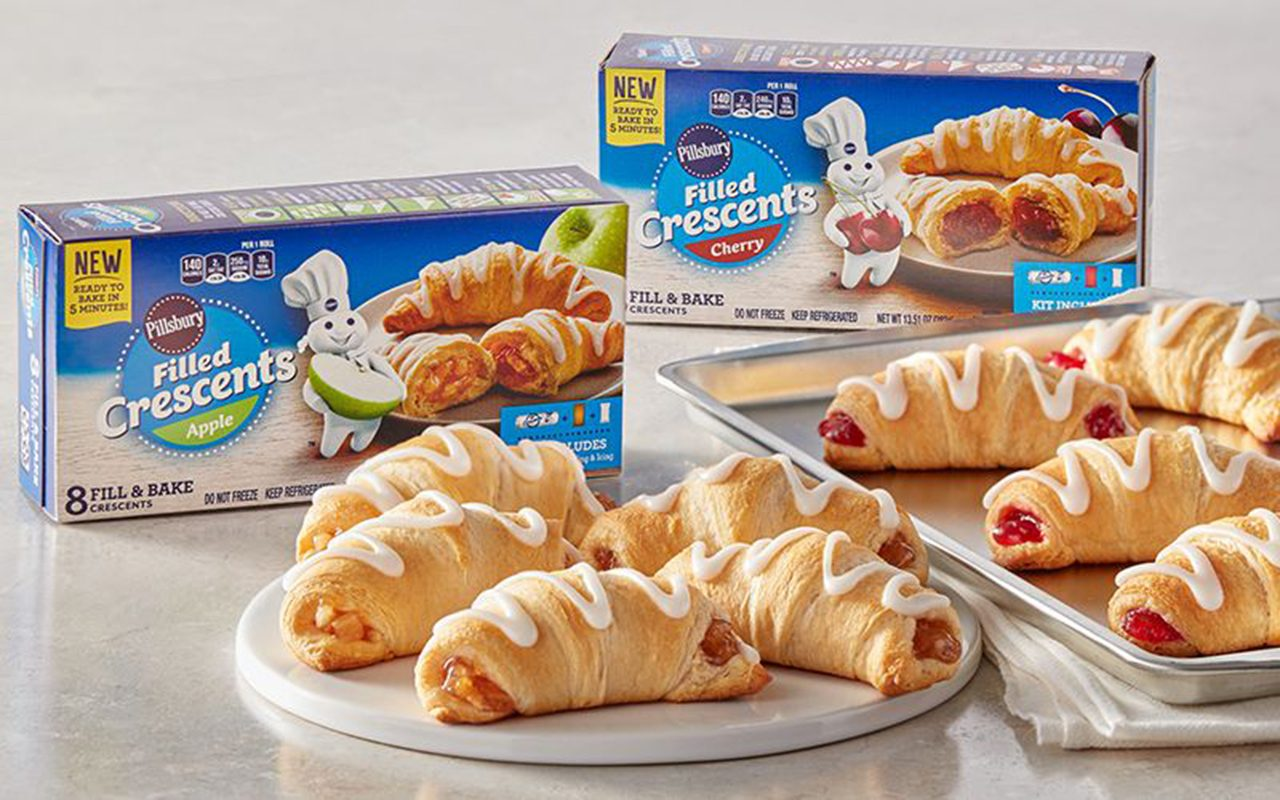 Pillsbury Crescents boxes and baked product