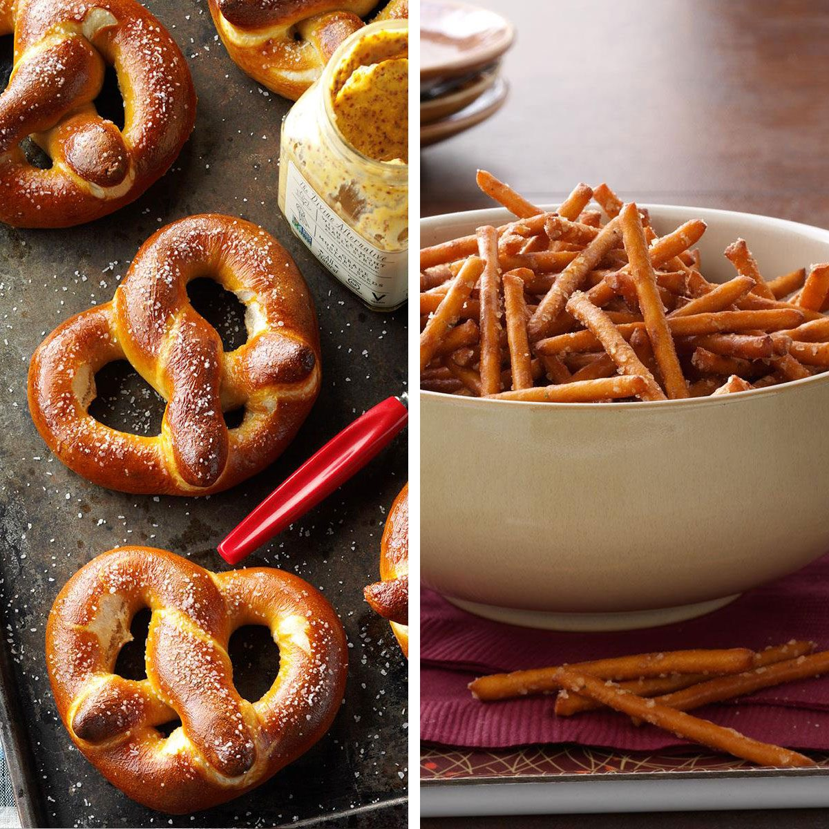 Soft-baked pretzels vs hard pretzels